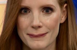 Jessica Chastain sin parpadear en el hormiguero