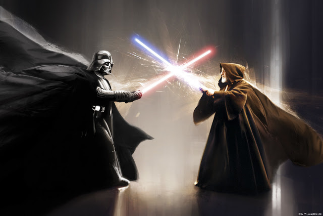 Star Wars tapetti Darth Vader vs Obi One Kenobi