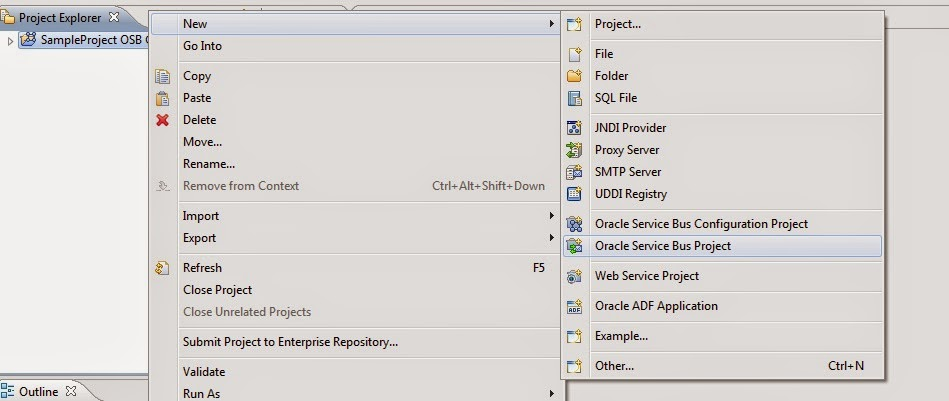 Oracle Fusion Middleware: Helloworld in OSB
