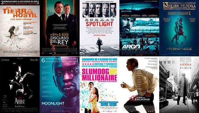 Ranking de las 10 últimas películas ganadoras del Oscar