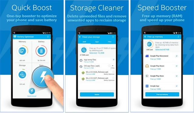 تطبيق مجاني للحفاظ علي البطارية وتنظيف وتحسين الأندرويد Battery Optimizer: Clean Daily APK
