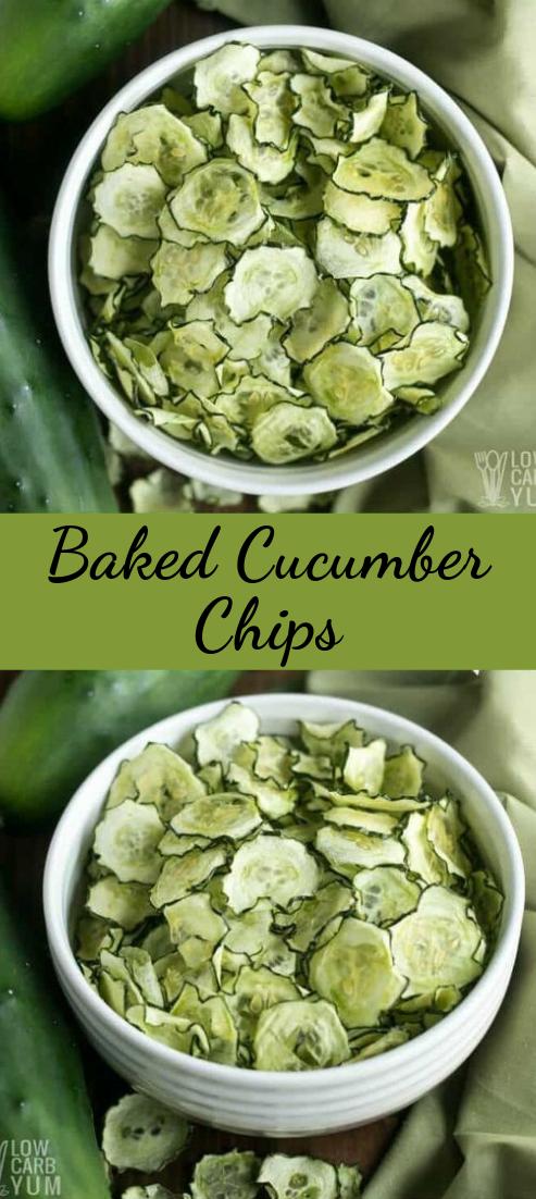 Baked Cucumber Chips #vegan #recipevegetarian