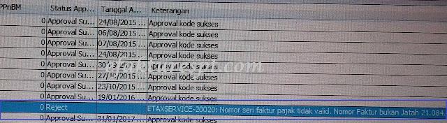 Solusi Upload Faktur Pajak Masukan Reject ETAXSERVICE 20020