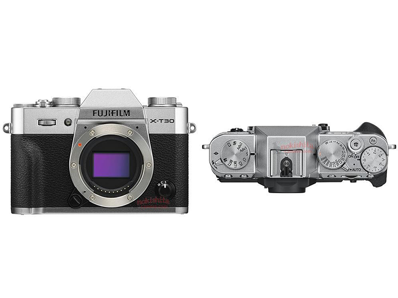The silver X-T30 with the sensor and top dials!