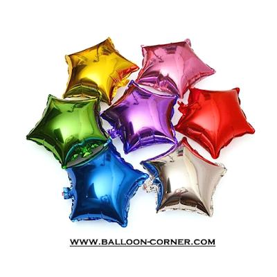 Balon Foil Bintang Super Mini Polos