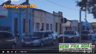 VÍDEO: Moradores de Amargosa realizam Carreata Cívica contra a corrupção