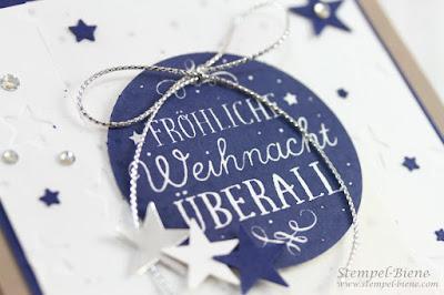 stampin up fröhliche Weihnacht, Weihnachtskarte stampin up, sternenkarte stampin up, stempelabdruck klarsichtstempel, stampinup bestellen, stempel-biene, match the sketch
