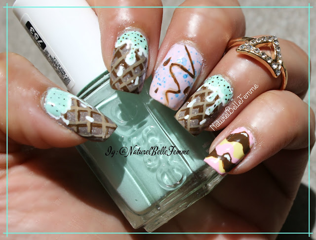 icecream nail art