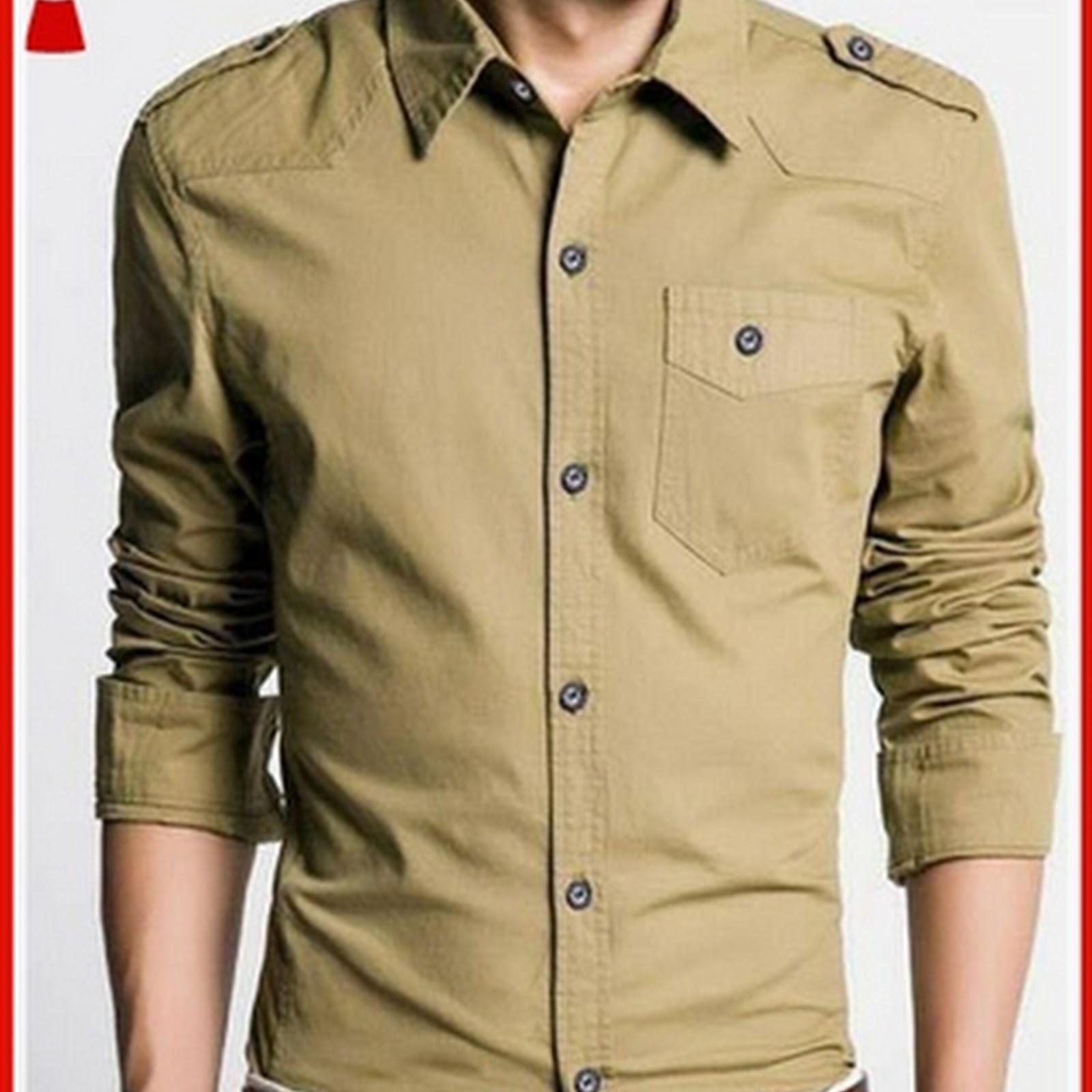 7smf Model Kemeja Pria Jeans Mocca Keren Dan Murah Bj2576