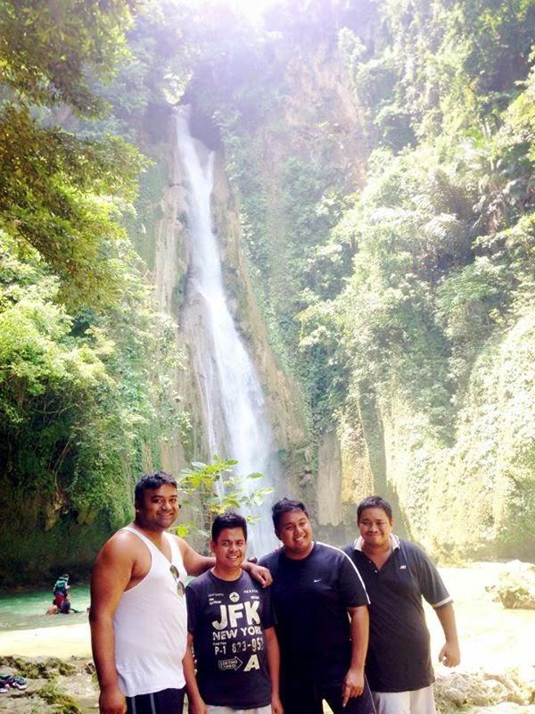 Mantayupan Falls in Barili, Cebu, Philippines