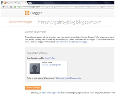 Sign-In to Blogger
