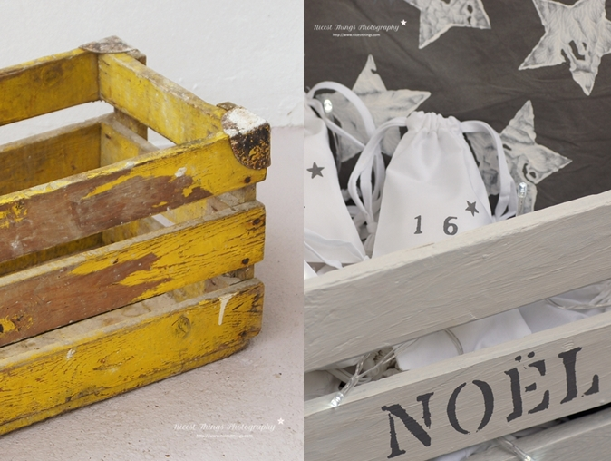 DIY Adventskalender Kiste Adventskiste Holzkiste Säckchen