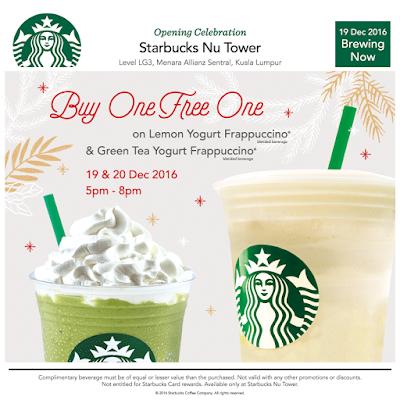 Starbucks Malaysia Buy 1 Free 1 Promo