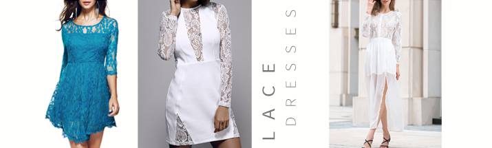 lace dresses with sleeves Zaful Valentine's Day