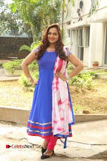 Actress Ashwini Stills in Blue Chudidar at Ameerpet Lo Release Press Meet  0221.JPG