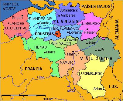Bruselas Bélgica Información Y Mapa