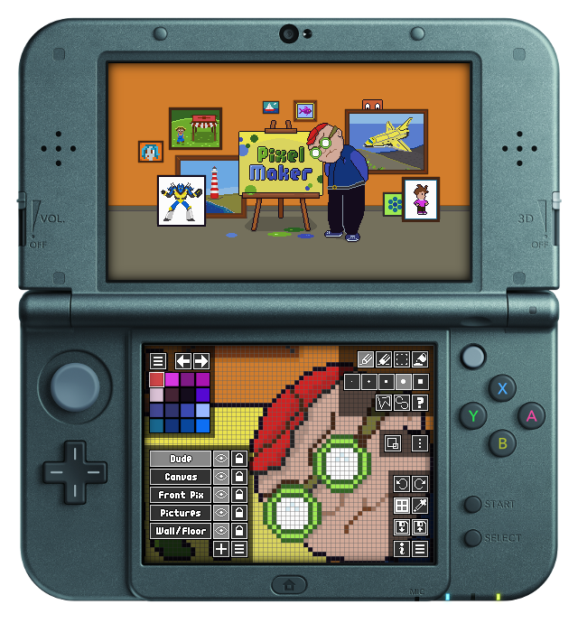 PixelMaker now available in the Nintendo 3DS eShop ...
