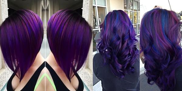 Enjoyable Black Amp Purple Hairstyles A Gorgeous Combination Hairstyles For Women Draintrainus
