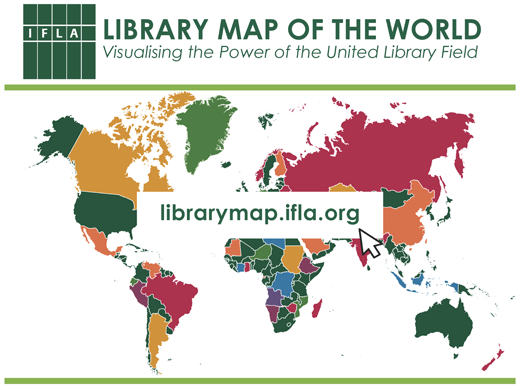 Mapa bibliotecas IFLA