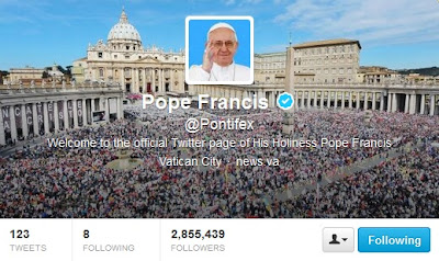 Pope's Twitter page