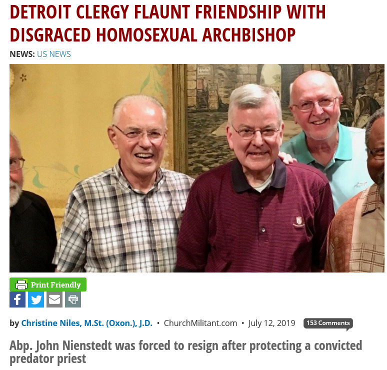 Detroit Archdiocese Allows Homosexual Cover-Up Bishop to Offer Mass
