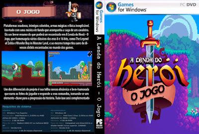 A Lenda do Herói - O Jogo PC DVD Capa