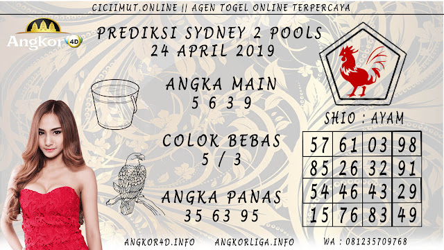 Prediksi Angka Jitu SYDNEY 2 POOLS 24 APRIL 2019