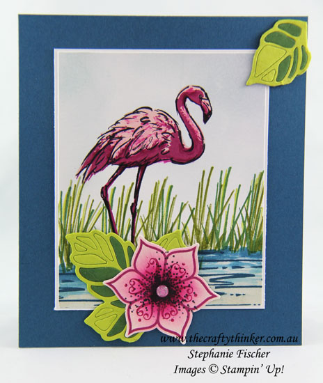 sneak peek Fabulous Flamingo, Eastern Beauty Bundle, #thecraftythinker, Stampin Up Australia Demonstrator, Stephanie Fischer, Sydney NSW