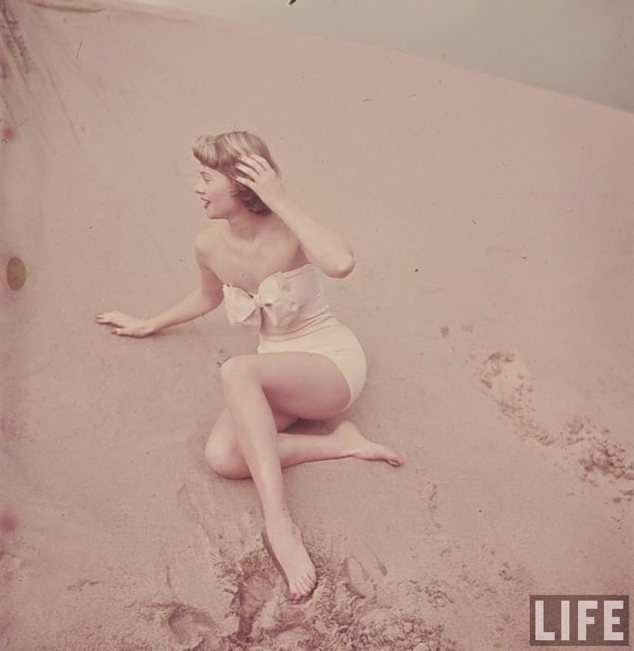 1950s Bathing Suit Caps And Beach Fashion In California