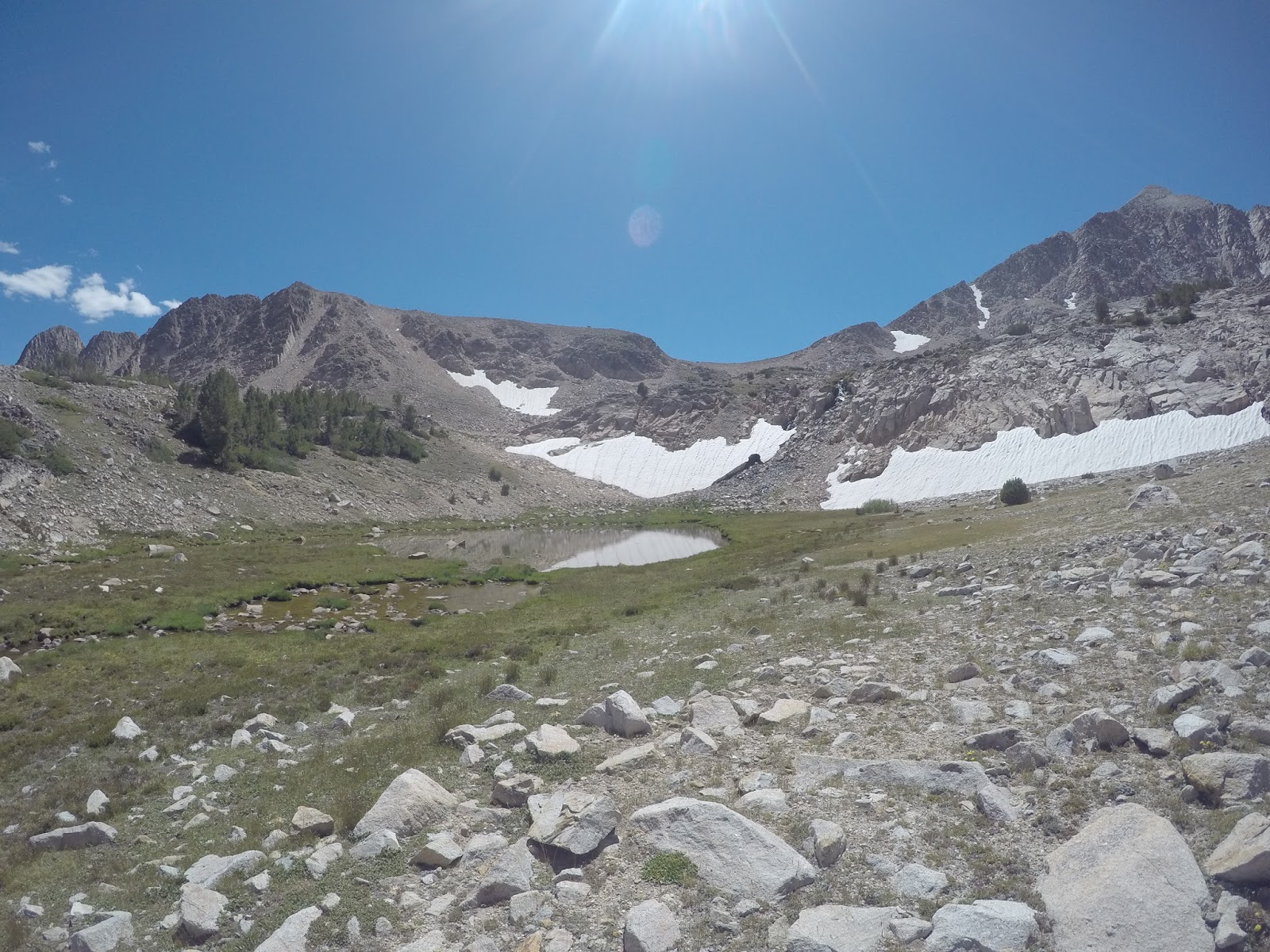 Backcountry Lakes: White Clouds: Big Boulder Lakes: July