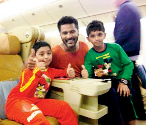 Prabhu Deva with Children