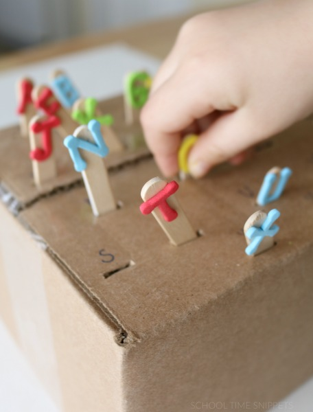 letter recognition idea using a box