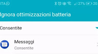 Se notifiche in ritardo, disattivare ottimizzazione batteria Android