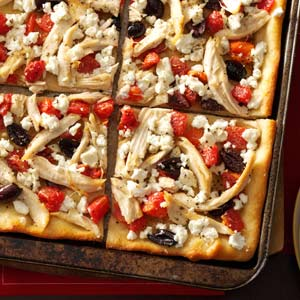 RecipeReview Garlicky Chicken Pizza