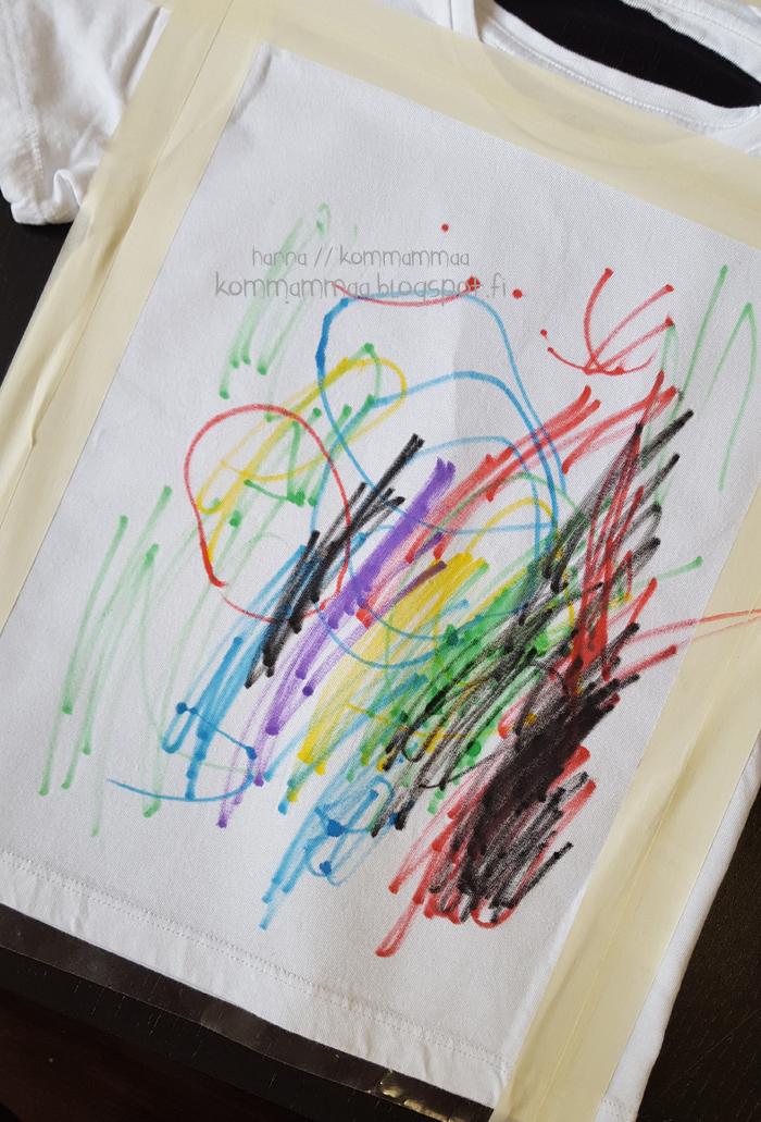 kangastussit ikea lapsi piirtää paita