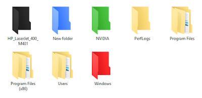 Merubah Tampilan Warna Folder