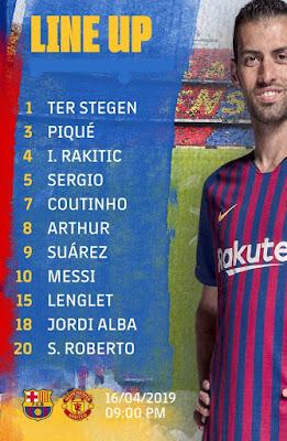 FC Barcelona Vs Manchester United Champions League Q/Final 2019