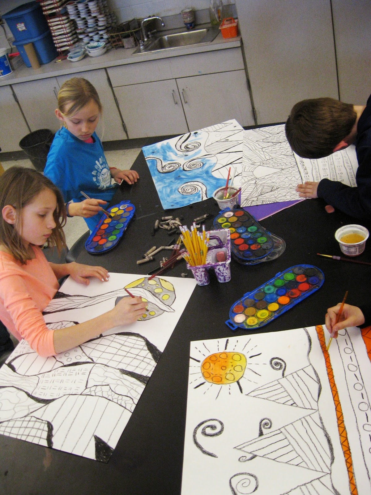Jamestown Elementary Art Blog 4th Grade Landscapes