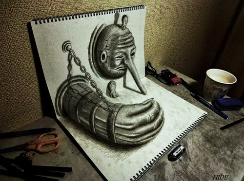 02-NAGAI-HIDEYUKI-Hide-永井-秀幸-3D-Pencil-Drawings-www-designstack-co