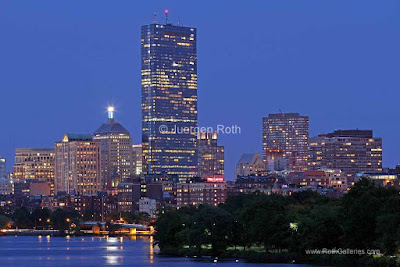Boston Back Bay and Charles River skyline photography images