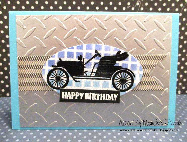 Creative With Monika Sunday Stamps 180 Manly Birthday Card In Blue