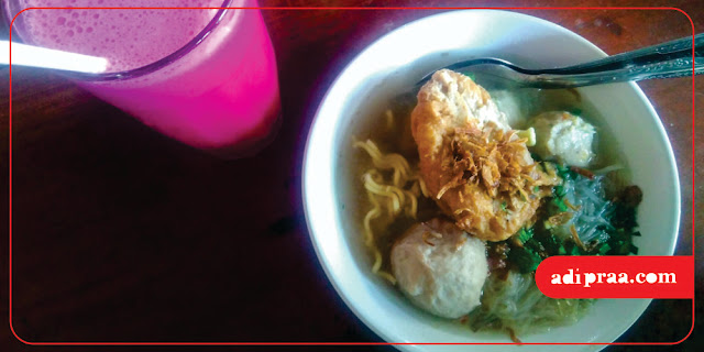 Bakso Komplit dan Juice Buah Naga | adipraa.com