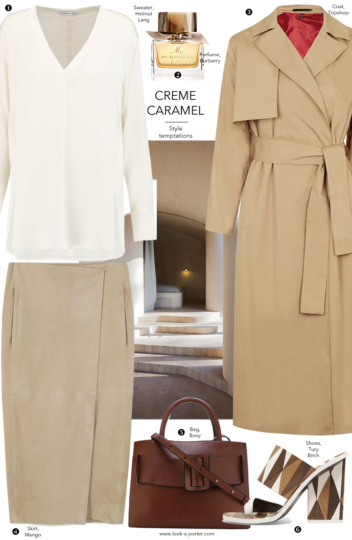 Many ways to style a trench coat and camel colours for spring via www.look-a-porter.com style & fashion blog