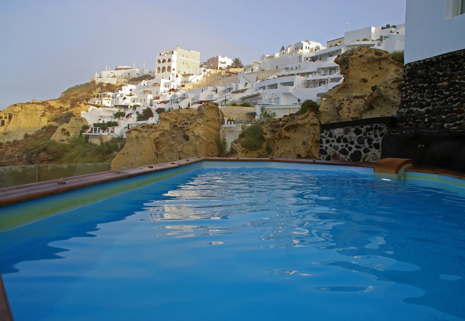 Swimming pool at Nostos Apartments Oia Santorini