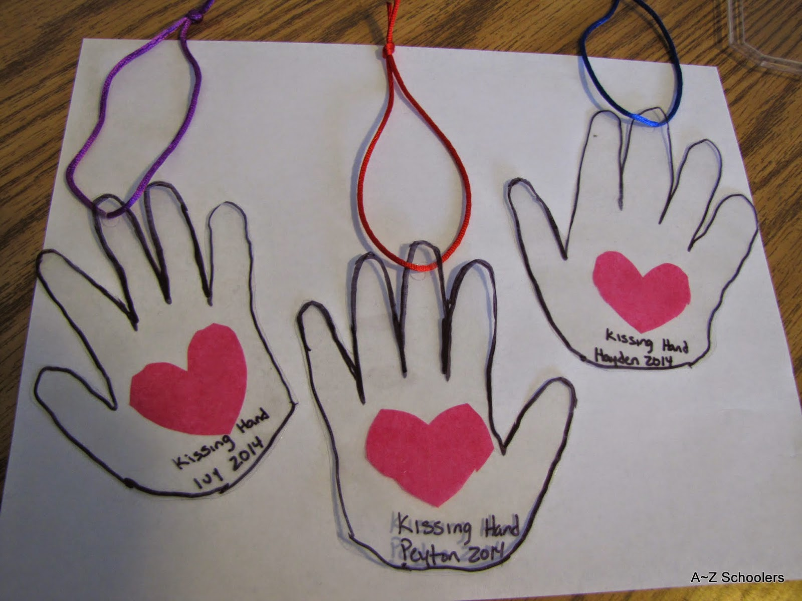 A Z Schoolers Adventures With Books The Kissing Hand