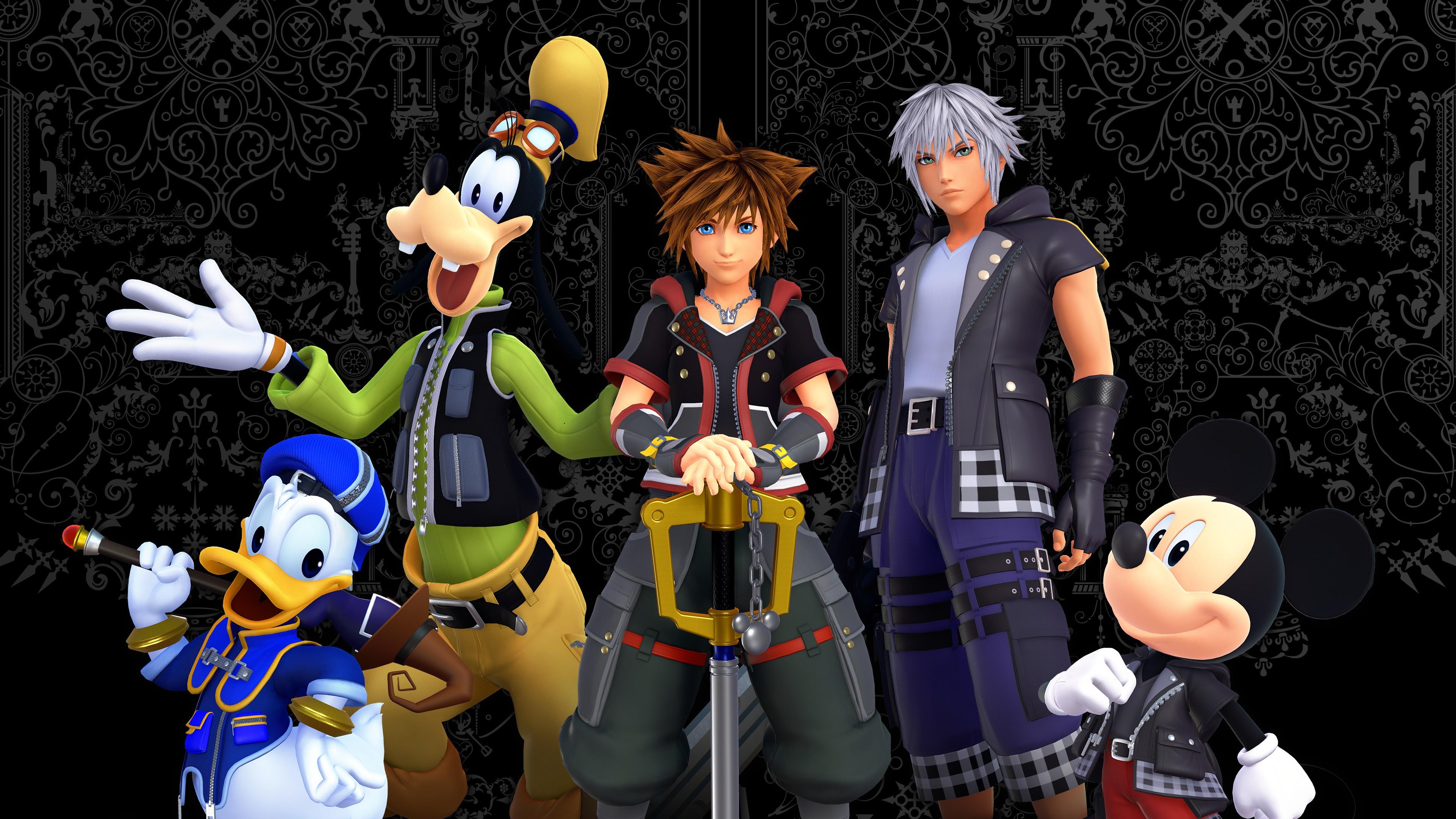 Kingdom Hearts 3 Characters 4k 3840x2160 Wallpaper 13