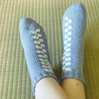Battenberg socks - free knitting pattern by Knitting and so on