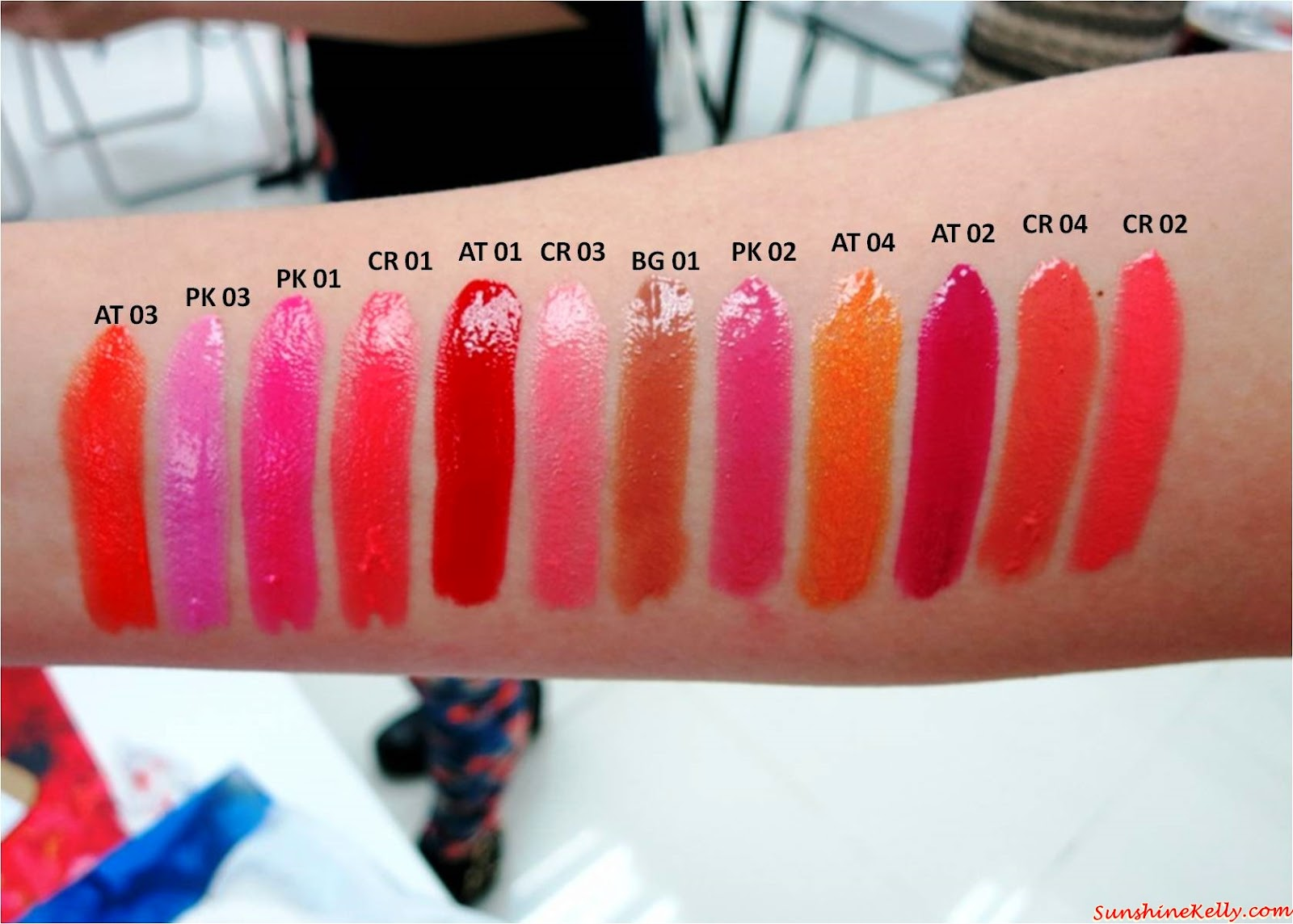 shu uemura Tint in Gelato Color Swatches, color swatch, Shu Uemura, Tint In Gelato, Lip & Cheek Colour