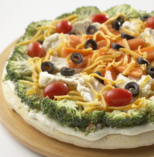 Fruit Pizza Healthy Crust: Vegetable Pizza