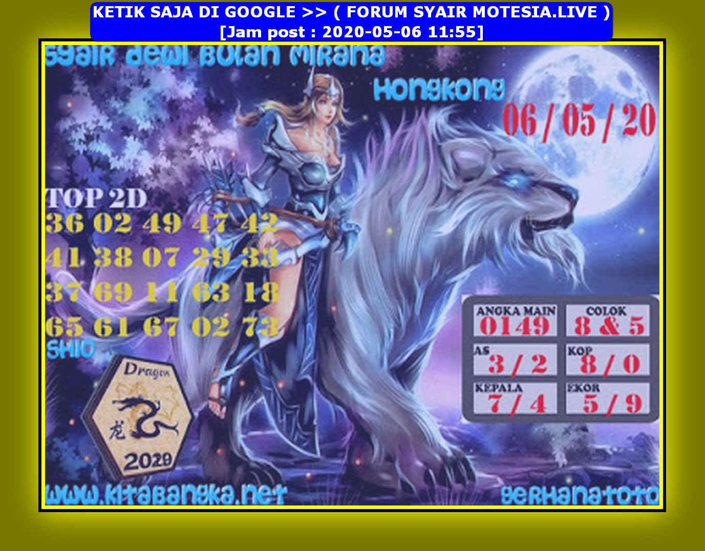 Kode syair Hongkong Rabu 6 Mei 2020 188